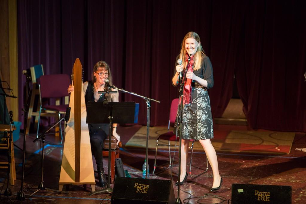 Rebecca performing with Sarah Chisholm at 'An Irish Christmas'